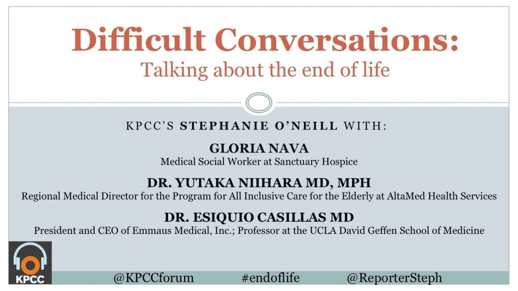 Conversations about end of life....they are not easy, and many of us avoid having them until it's too late. But in some cultures, planning for end of life is the norm.