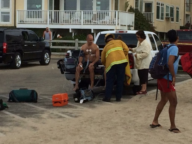 A man was treated after being injured by lightning on the Venice Pier Sunday, July 27th.