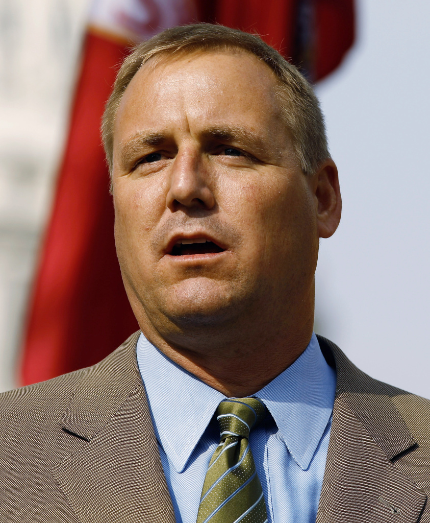 House member-elect Jeff Denham (R-CA) addresses a rally organized by Americans for Progress withon Capitol Hill November 15, 2010 in Washington, DC. Associated with the Tea Party movement, Americans for Progress members and supporters rallied to