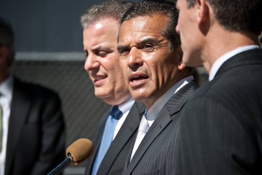 Mayor Antonio Villaraigosa talks to the media about the decision in the case of Doe vs. Deasy on June 12, 2012. L.A. Unified and its teachers' union announced a