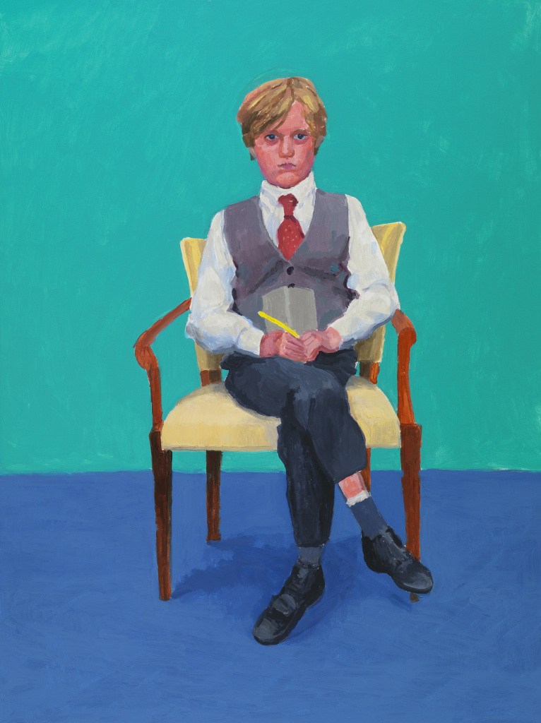 Rufus Hale was 11 years old when Hockney painted his portrait. It's a