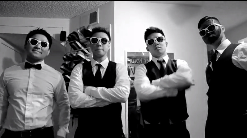 Members of Lambda Theta Delta (LTD), an Asian-American fraternity at UC Irvine, created a music video inspired by the Justin Timberlake and Jay-Z collaboration,