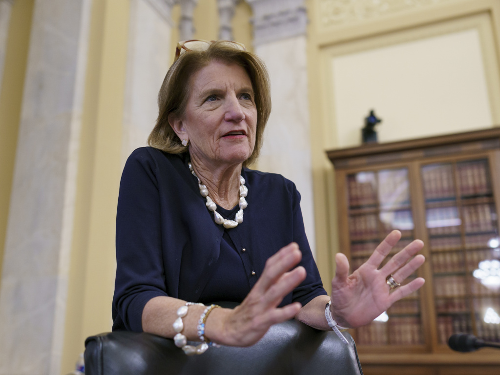 Sen. Shelley Moore Capito, R-W.Va., the GOP's lead negotiator on infrastructure, met with President Biden on Wednesday as an informal deadline next week nears for trying to reach a bipartisan deal.