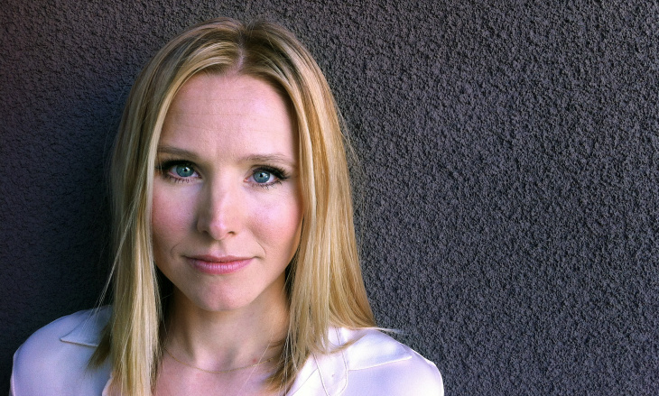 "Film and television star Kristen Bell, at KPCC's Mohn Broadcast Center on February 27, 2014. The movie version of ""Veronica Mars"" opens March 14."