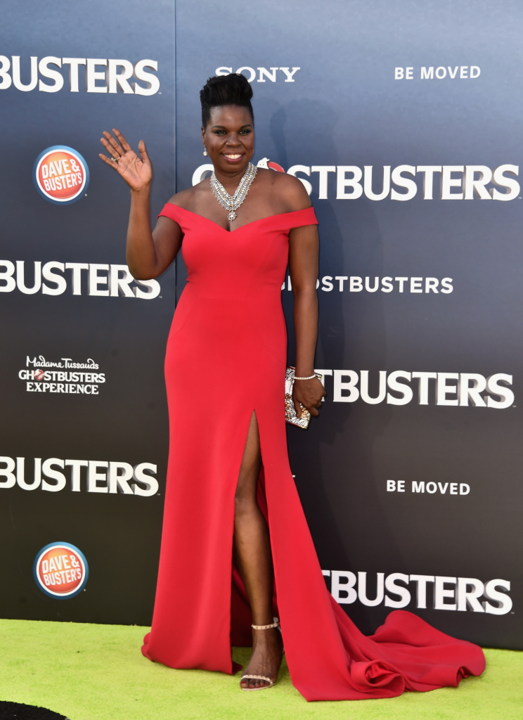 Actress Leslie Jones arrives at the Premiere of Sony Pictures' 'Ghostbusters' at TCL Chinese Theatre on July 9, 2016 in Hollywood, California.