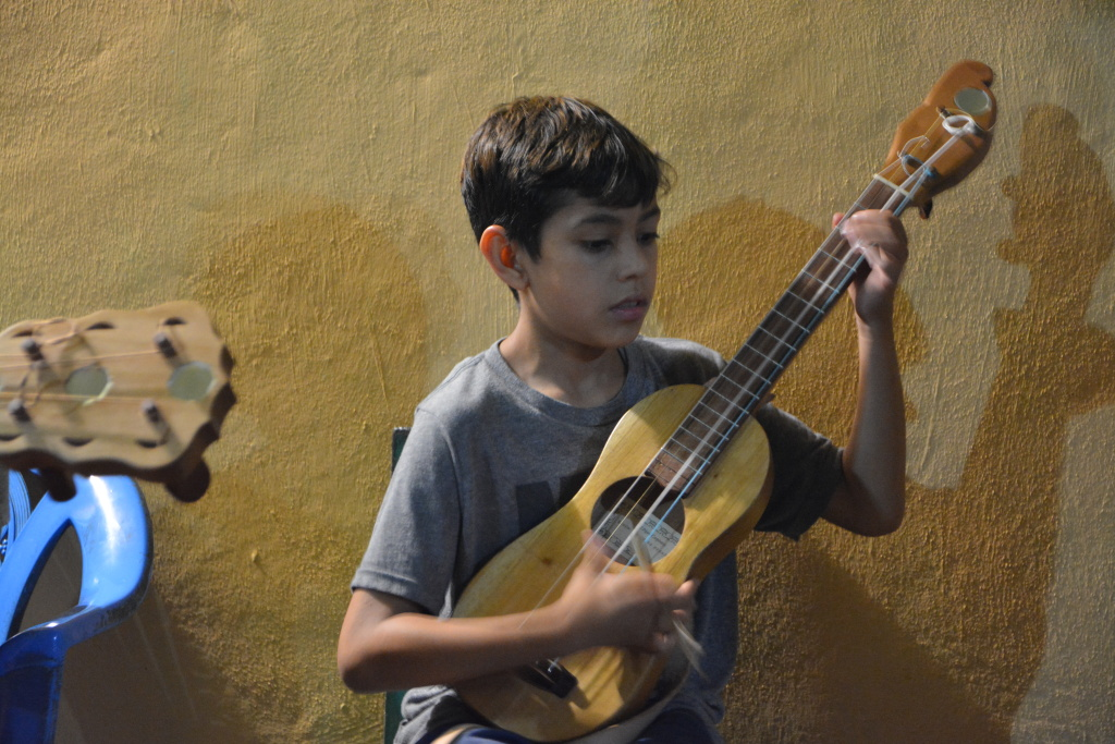 Sandino Gonzalez Flores, the 10-year-old son of Quetzal Flores and Martha Gonzalez, is already an accomplished musician.