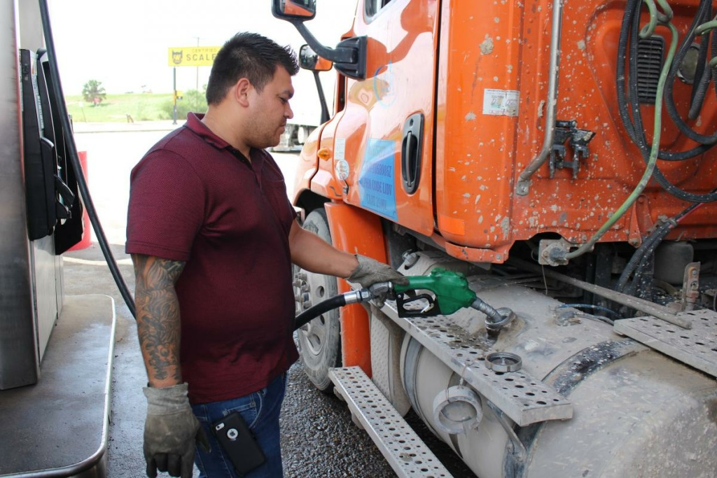 Cristián Alexander Garcia Dávila is a truck driver who often crosses the Texas-Mexico border with fruit and vegetable cargo. He says commercial wait times on the Pharr International Bridge have improved, but still can take hours.