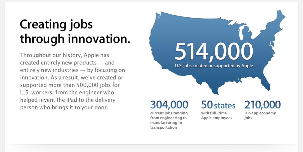 Should we be thankful for all that Apple has given us, including jobs?