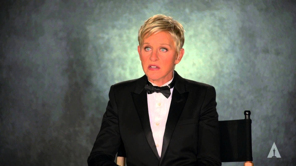 Host Ellen DeGeneres on the making of the new Oscars trailer starring herself and 250 tuxedo-clad men and women dancing to