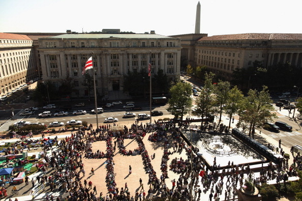 Wall Street Protests Spreads To DC's Freedom Plaza