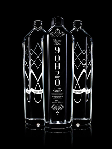 Beverly Hills 9OH2O is the world's first sommelier-crafted water. Limited edition bottles sell for $14 each.""