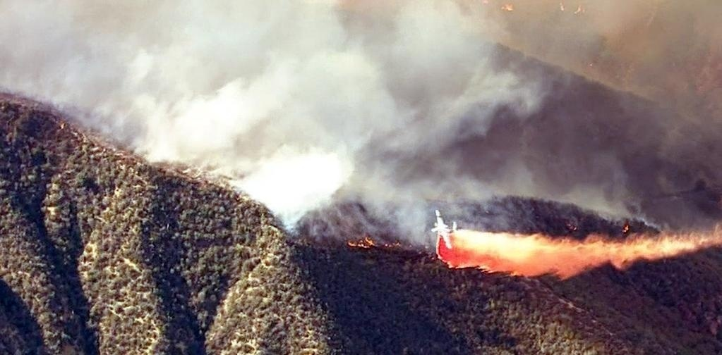 The Warm Fire near Warm Springs Road and Lake Hughes Road in Castaic.