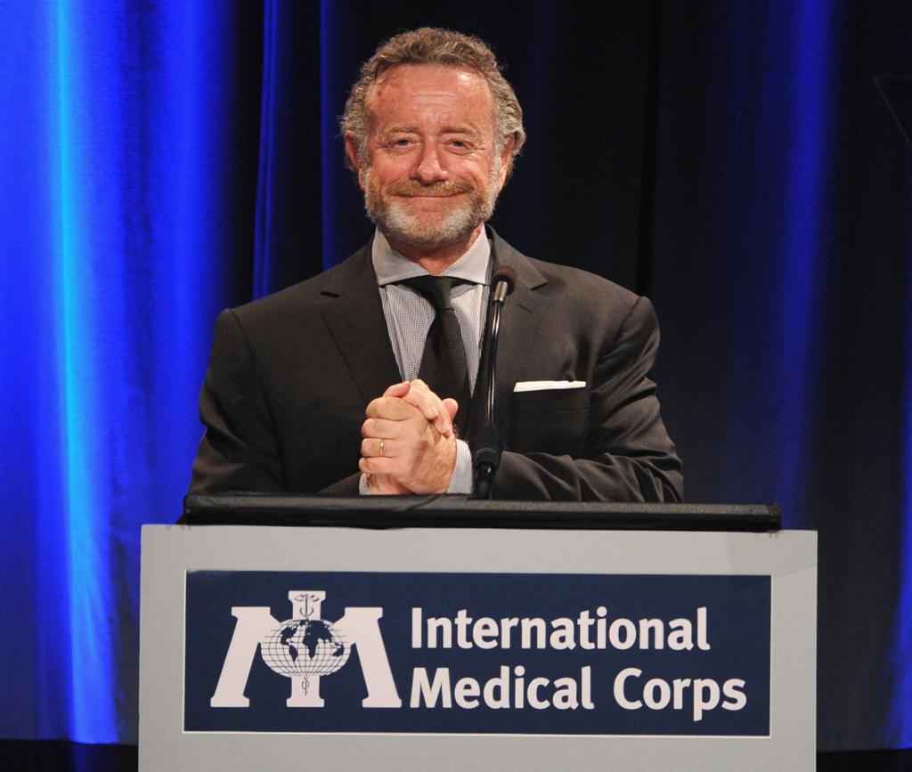 Newly named NPR President Jarl Mohn addressing the Nov. 2013 International Medical Corps Annual Awards Celebration at the Regent Beverly Wilshire Hotel in Beverly Hills.