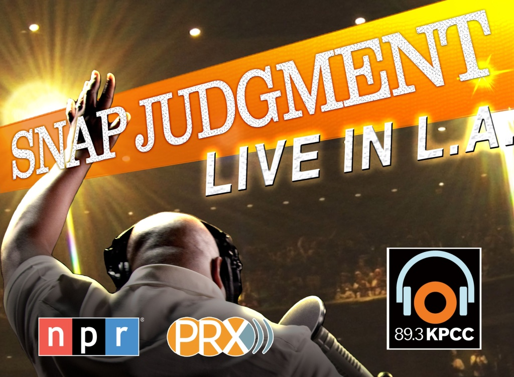 Revised Snap Judgment Poster with new NPR Logo