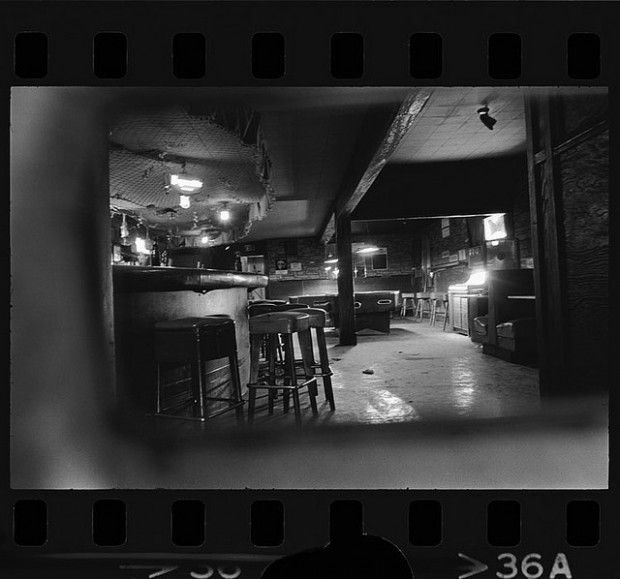An old interior shot of the Silver Dollar, the bar where Ruben Salazar was fatally struck, taken from a UCLA collection