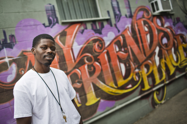 Jermell Foster is a peer advocate at My Friend's Place, a homeless youth center in Hollywood. From 2006 to 2010, Foster was chronically homeless and came to My Friend's Place for support.