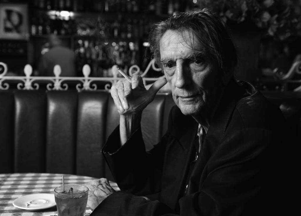 Actor Harry Dean Stanton poses for a portrait at Dan Tana's Restaurant on August 22, 2013 in West Hollywood, California.