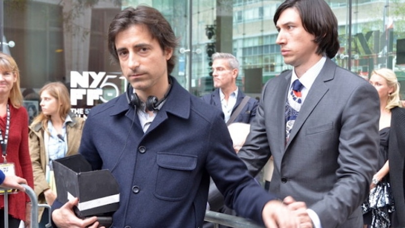 Director Noah Baumbach and actor Adam Driver, see here on the set of