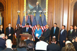 The House of Representatives held a press conference announcing their passage of a repeal of Don't Ask, Don't Tell on Dec. 16, 2010.