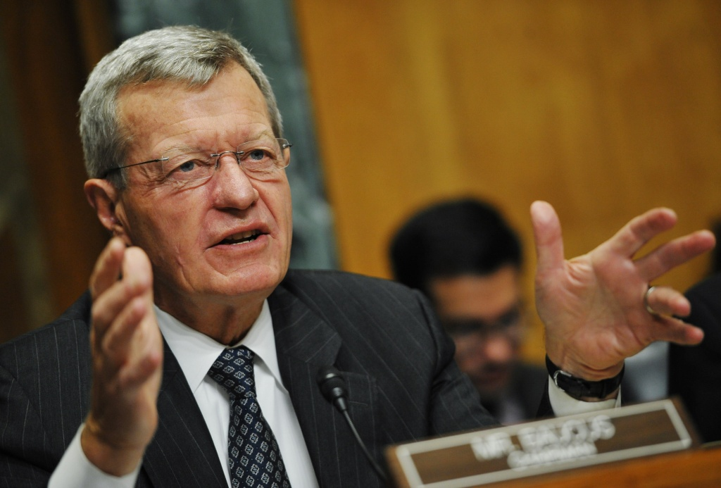 Senate Finance Committee Chairman Max Baucus(D-MT) speaks during a hearing on health insurance exchanges on November 6, 2013 in the Dirksen Senate Office on Capitol Hill in Washington, DC.