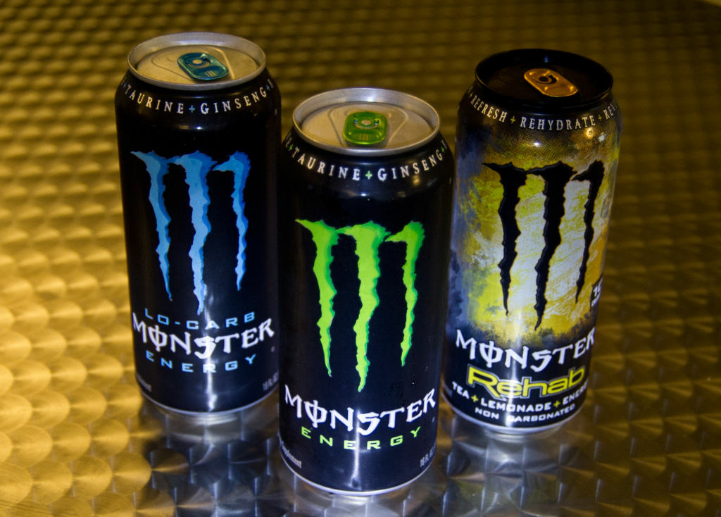 This October 23, 2012 photo illustration shows a variety of Monster Energy drinks in Washington, DC. The US Food and Drug Administration is investigating five deaths and a heart attack for possible links to consumption of Monster Energy drinks, an agency spokeswoman said Tuesday.