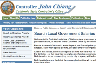State controller's website