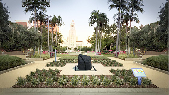 This monument commemorating the Armenian Genocide was unveiled Sep. 17, 2016 in Grand Park in downtown Los Angeles.