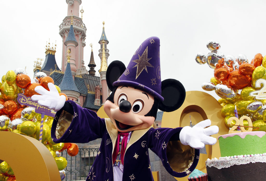 Mickey Mouse gestures as he poses during the launch of Disneyland Paris's 20th birthday celebrations. Back in the U.S.A., the Walt Disney Company finished the year as the most valuable publicly traded company in the L.A. region.
