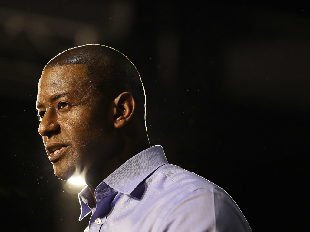 Andrew Gillum was seeking to become the first African-American governor of Florida. His race against Rep. Ron DeSantis was one of the most closely watched in the country.