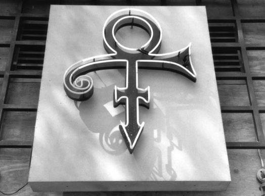 Prince's glyph at his Glam Slam club, 1994.