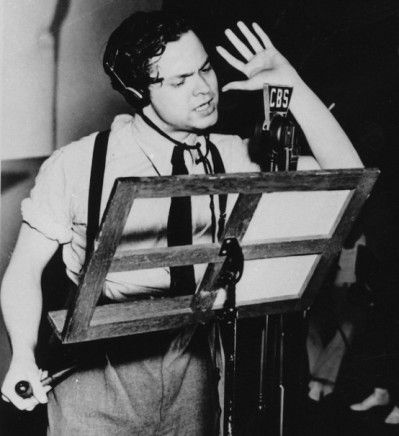 Orson Welles directing on CBS.