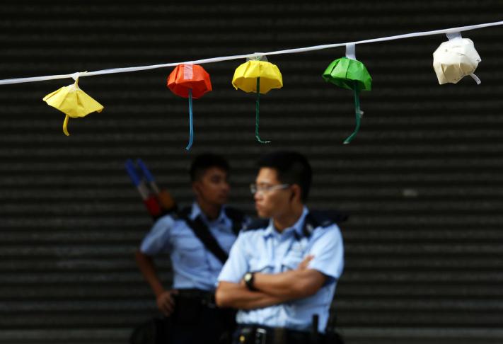 Policeman in Hong Kong