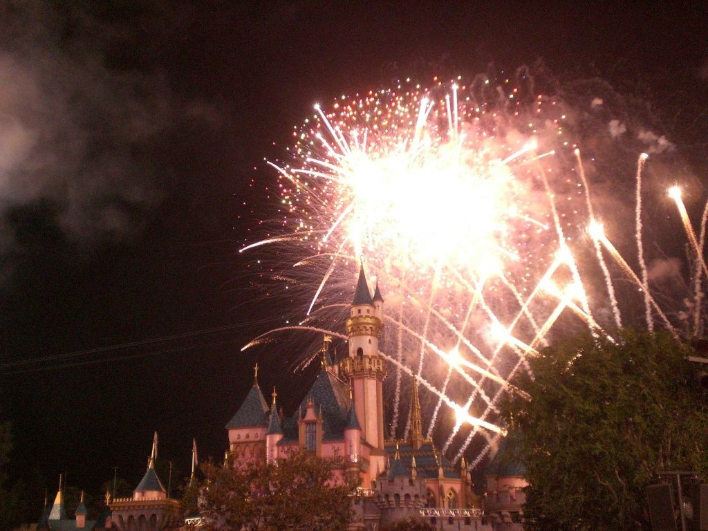 Disneyland fireworks circa October 19, 2007.