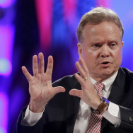 Former Sen. Jim Webb, D-Va., speaks at the National Sheriffs' Association presidential forum in Baltimore on Tuesday. Webb announced Thursday that he is running for president.