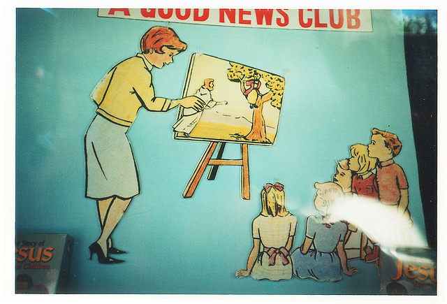 Photo of a Good News Club poster.