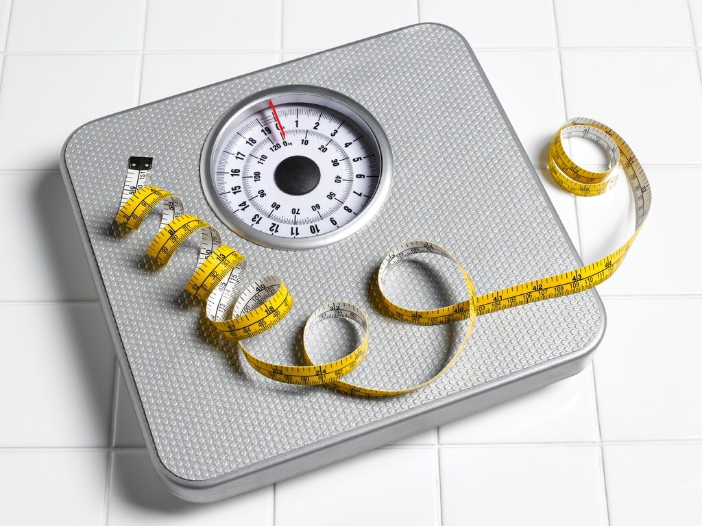 Photo of a weighing scale.