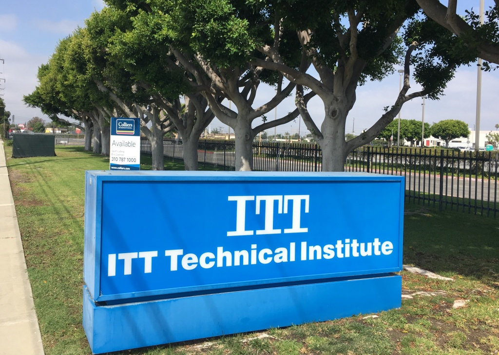 The former site of the ITT Tech campus in Torrance, California, September 2016. Current legislation in Congress aims to reinstate education funds for student veterans who were affected by the closure.