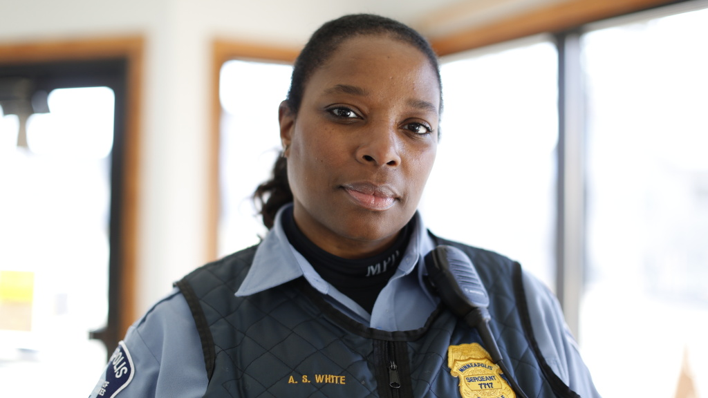 Sgt. Alice White has been with the Minneapolis Police Department since 2004. She's one of four officers profiled in the documentary <em>Women in Blue,</em> on the PBS Independent Lens series.