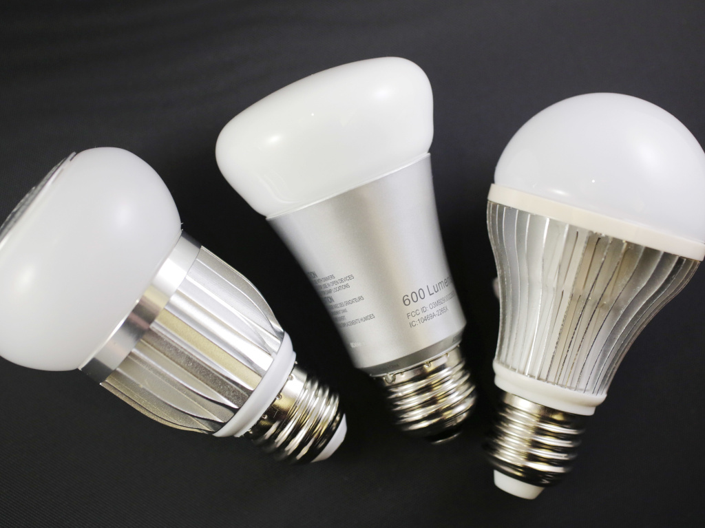 LED light bulbs like these have replaced many incandescent ones.
