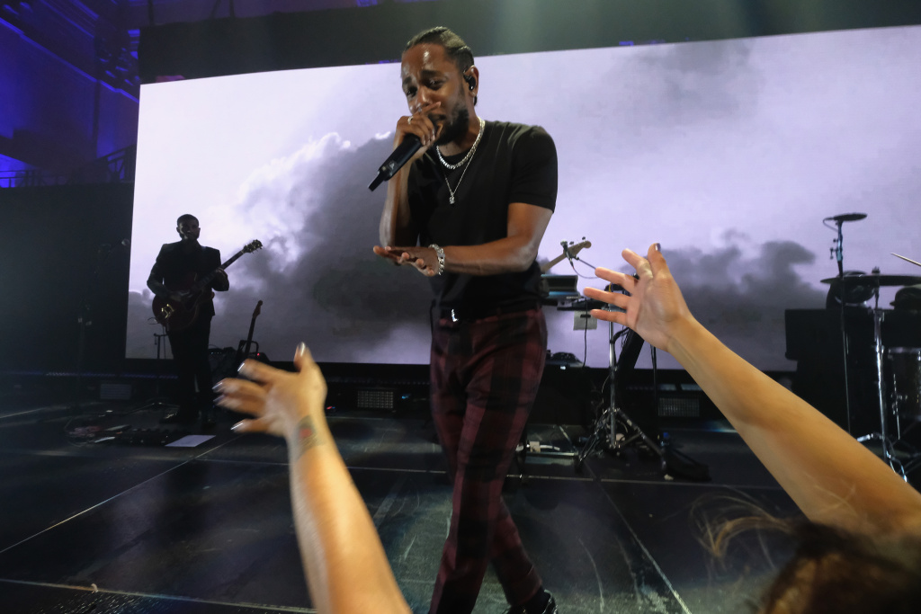 Kendrick Lamar performs onstage at Rihanna's 3rd Annual Diamond Ball Benefitting The Clara Lionel Foundation at Cipriani Wall Street on September 14, 2017 in New York City. Lamar has earned seven Grammy Award nominations.