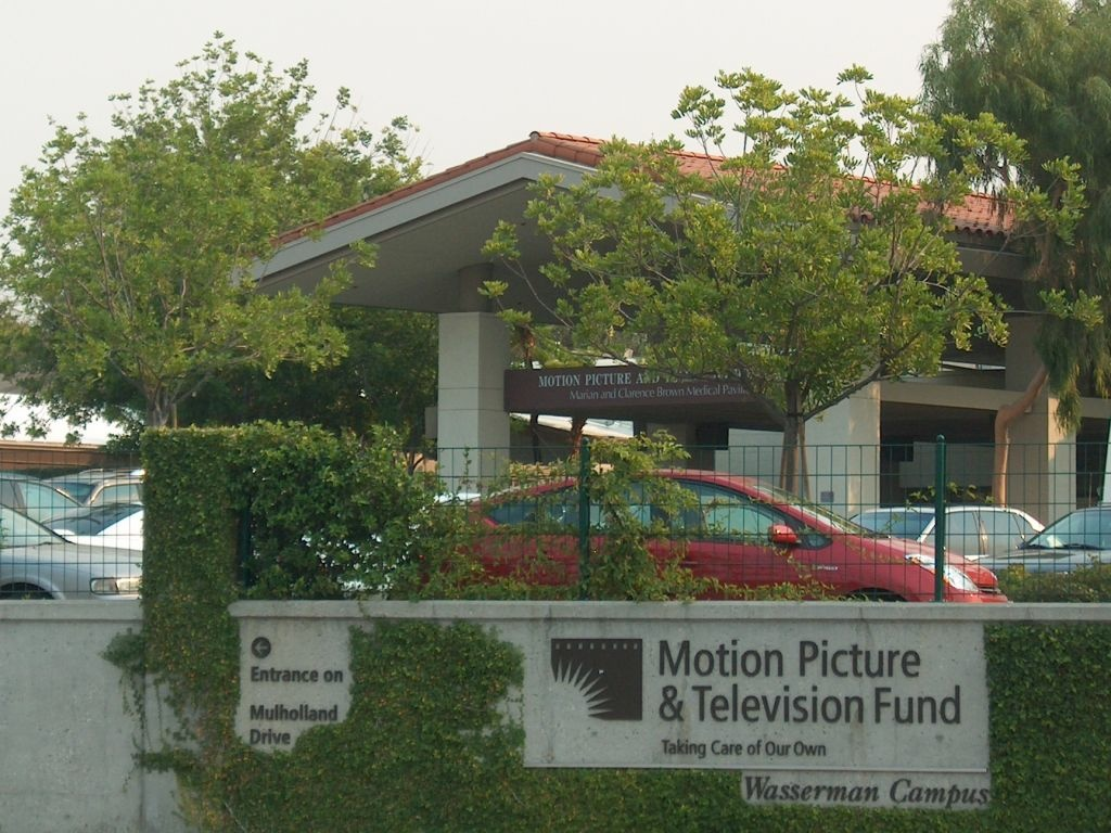 The Motion Picture Television Fund's Wasserman Campus in Woodland Hills.  The organization's motto,