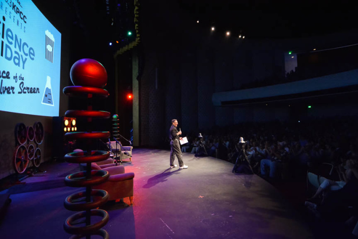 Science Friday host Ira Flatow during KPCC Presents Science Friday Live at Caltech's Beckman Auditorium Aug. 27