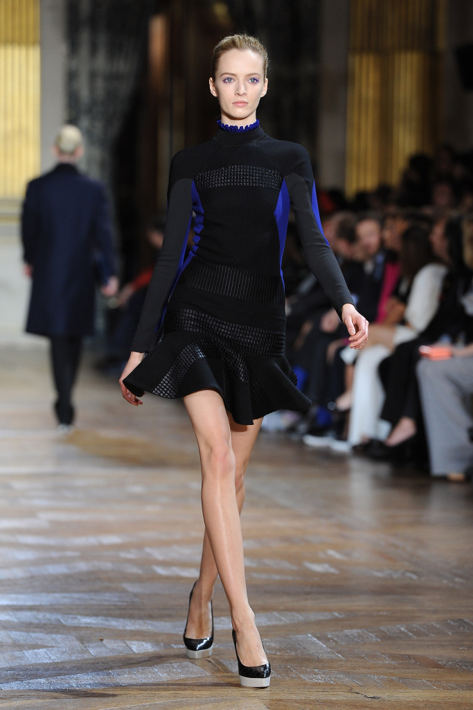 A model walks the runway during the Stella McCartney Ready-To-Wear Fall/Winter 2012 show as part of Paris Fashion Week on March 5, 2012 in Paris, France.