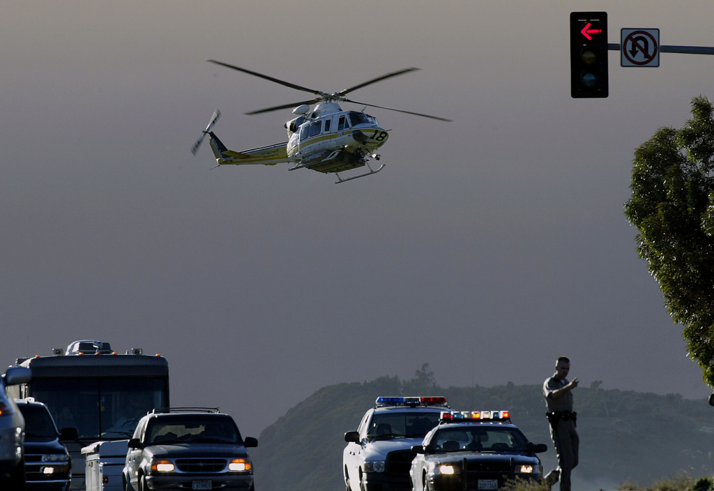 Both the Orange County fire authority's and sheriff's departments are responsible for sending helicopters to search and rescue calls.