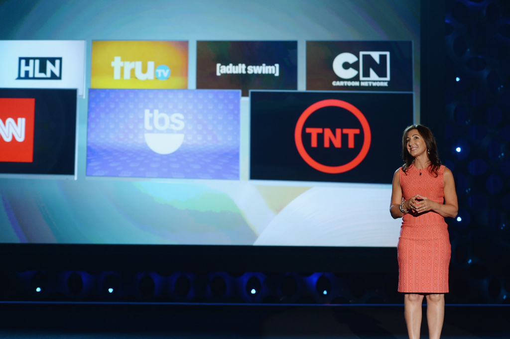 Donna Speciale speaks onstage at the TBS / TNT Upfront 2014 at The Theater at Madison Square Garden on May 14, 2014 in New York City.