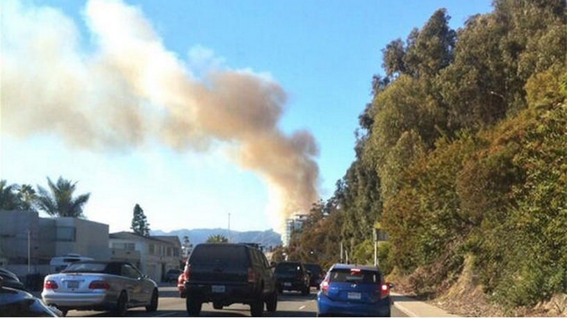 A fire on PCH was reported at about 3:08 p.m. Tuesday.