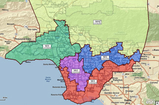 Proposed L.A. County supervisorial redistricting map