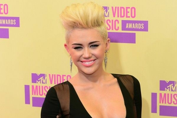 Miley Cyrus on the red carpet of the 2012 MTV Video Music Awards held at Staples Center in downtown Los Angeles on Sept. 6, 2012.