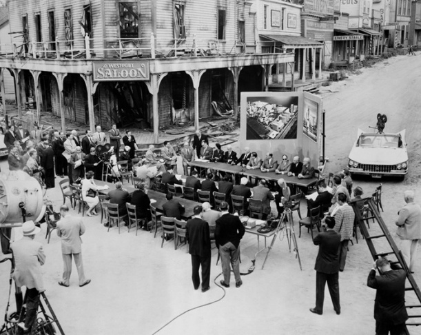 1959 Press Conference on Fox backlot.