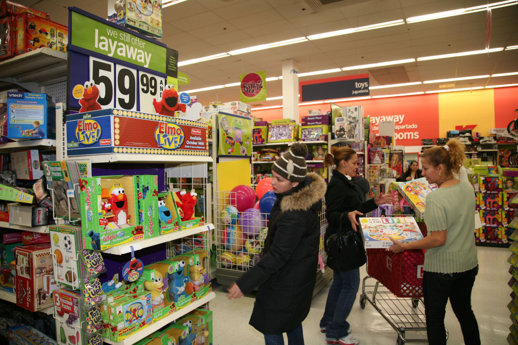 Shoppers look for bargains at a Kmart store.